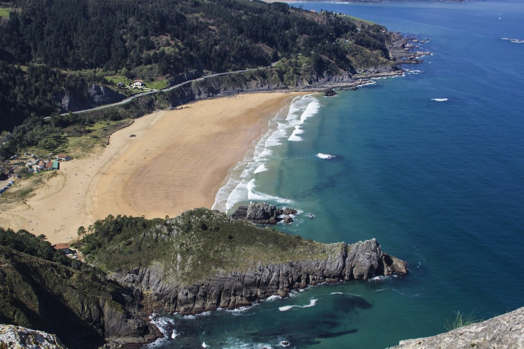 Playa de Laga desde Ogoño