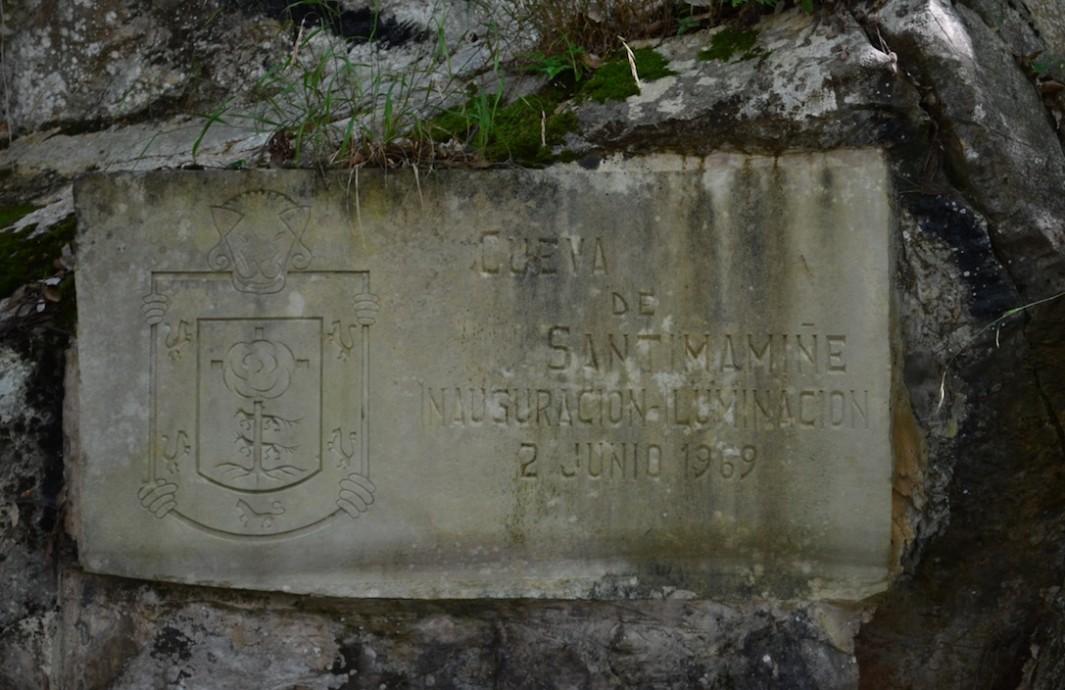 Inscripción descubrimiento Santimamiñe